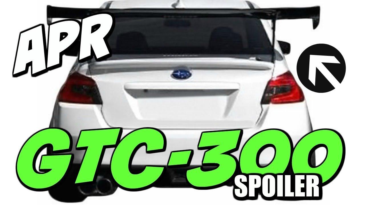 INSTALL APR GTC-300 CARBON FIBER WING 15-18 WRX
