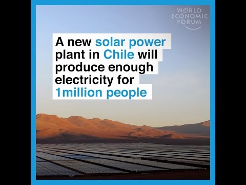 A new solar power plant in Chile will produce enough electricity for 1 million people