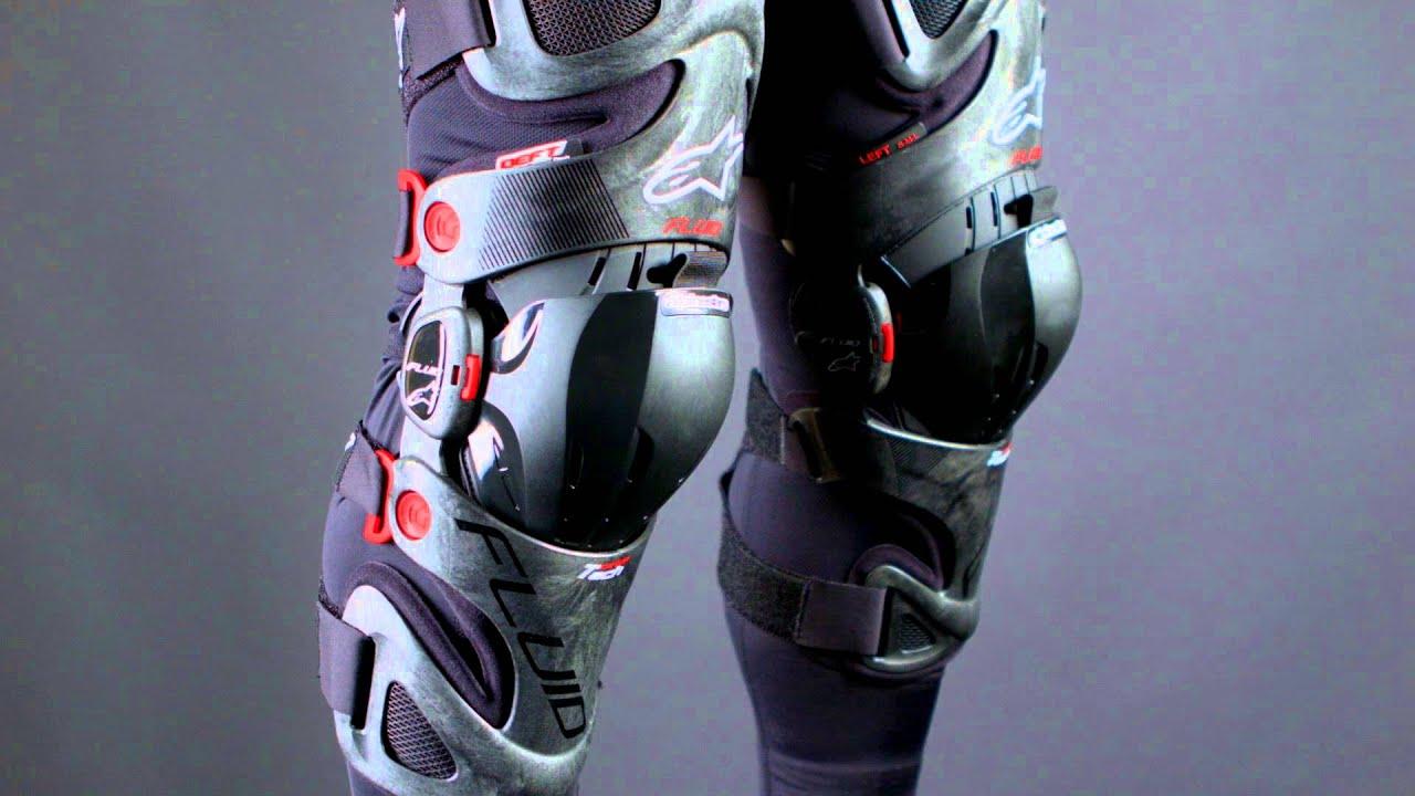808a27248c Alpinestars Fluid Tech Carbon Motocross Knee Brace Review - YouTube