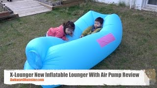 X-Lounger New Inflatable Lounger With Air Pump Review