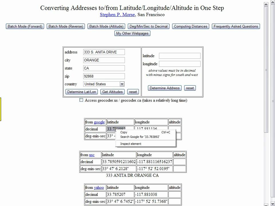 How To Get Latitude And Longitude For Your Clients Properties - Altitude longitude