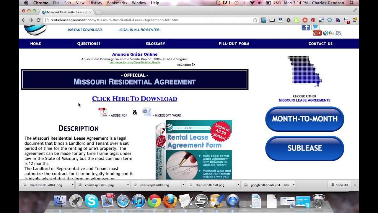 Missouri Residential Lease Agreement Youtube