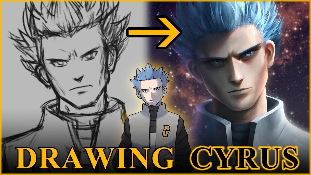 drawing pokemon cyrus youtube