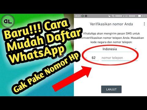 Baru Cara Daftar Whatsapp Tanpa Nomor Hp Youtube