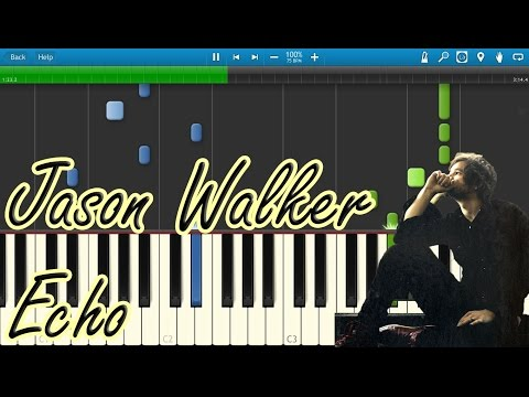 Jason Walker - Echo (OST The Vampire Diaries) [Piano Tutorial] Synthesia