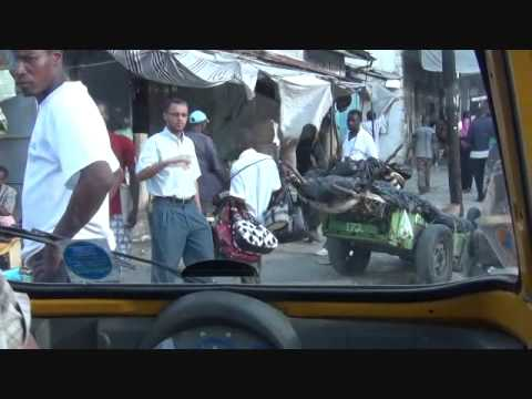 Mombasa Kenya Old Town walking tour including market, rickshaw Tuk Tuk ride, tusks