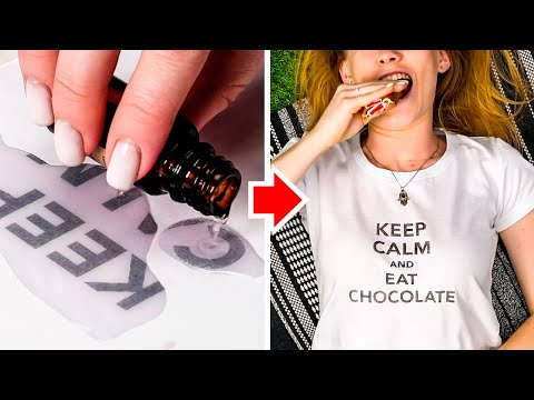 20 T-SHIRT PRINT LIFE HACKS || Awesome Clothing Tips By 5 Minute Decor!
