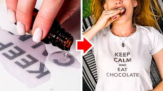 20 T-SHIRT PRINT LIFE HACKS  Awesome Clothing Tips by 5 Minute Decor!