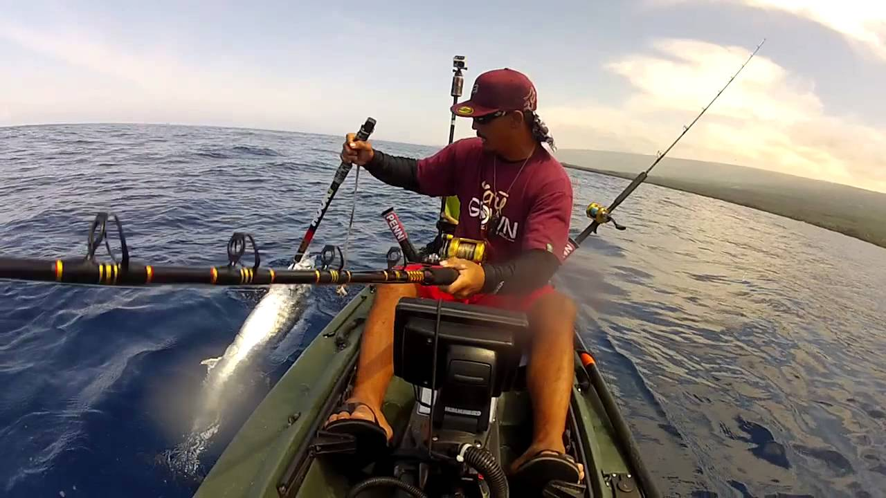 Extreme kayak fishing hawaii reel tripz 5 big island for Kayak fishing hawaii