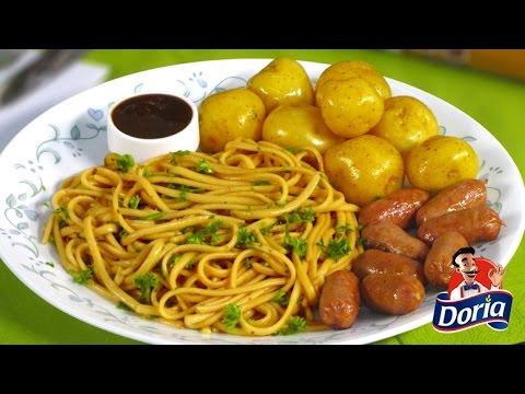 Spaghetti Doria Sabor Ranchero con Picada Ranchera