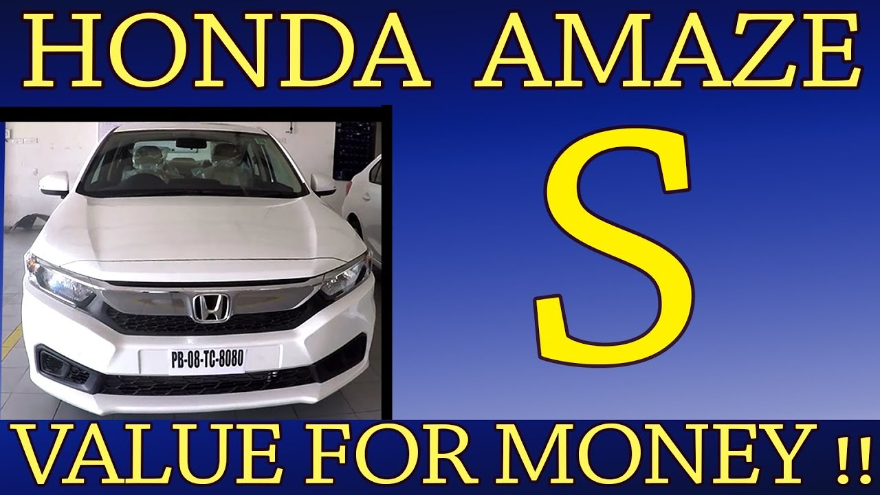 Honda Amaze S | Value for money variant | Features and Specs - YouTube