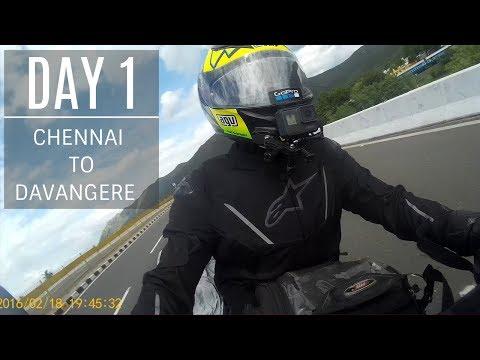 Chennai to Davangere | Day 1 | 550 kilometers | Benelli TNT 300 | Harley Davidson 750
