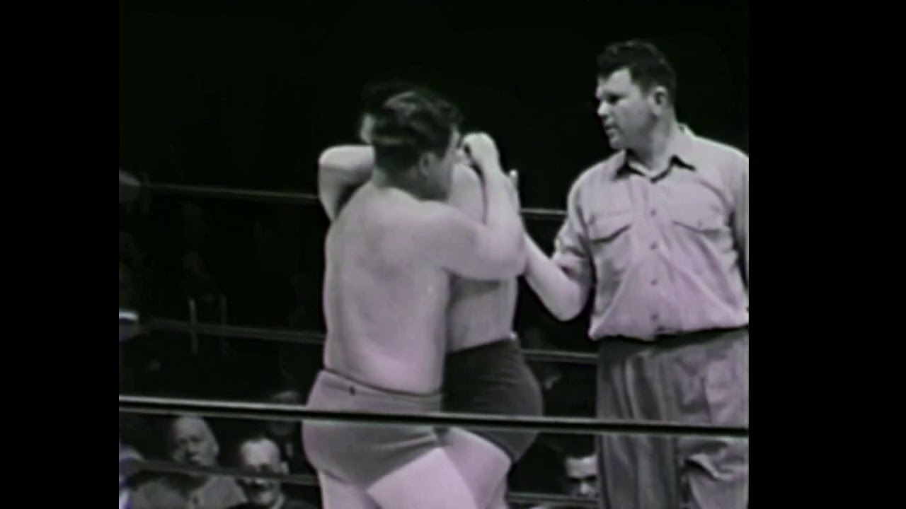 Sheik Lawrence of Arabia vs Crybaby Bob Corby 2/19 1951 professional wrestling Los Angeles Hollywood