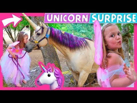 🦄 😍 Surprising Kid With A Real Unicorn!  🎠 😱 Our RV Life with Kids