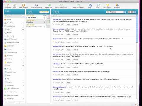 BlogBridge 6.8 Twitter Features Demo