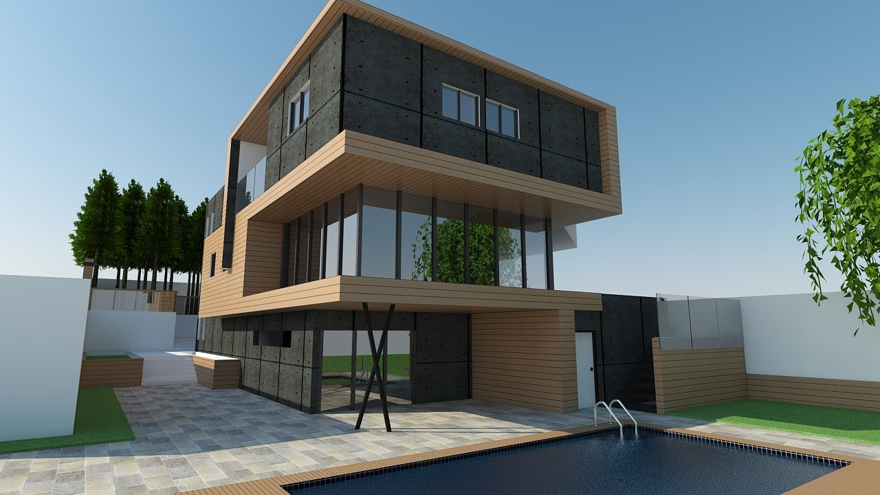 Sketchup vray exterior sketchup render tutorial youtube for Setting render vray sketchup exterior
