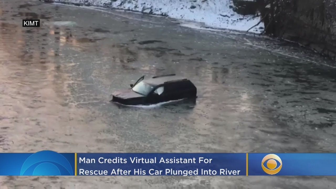 'Hey Siri, Call 911': Man Credits Virtual Assistant For Rescue After His Car Plunged Into