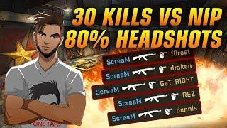 CS:GO POV - ScreaM vs NiP | 30/14 (80% Headshots) @ ESL Pro League S7