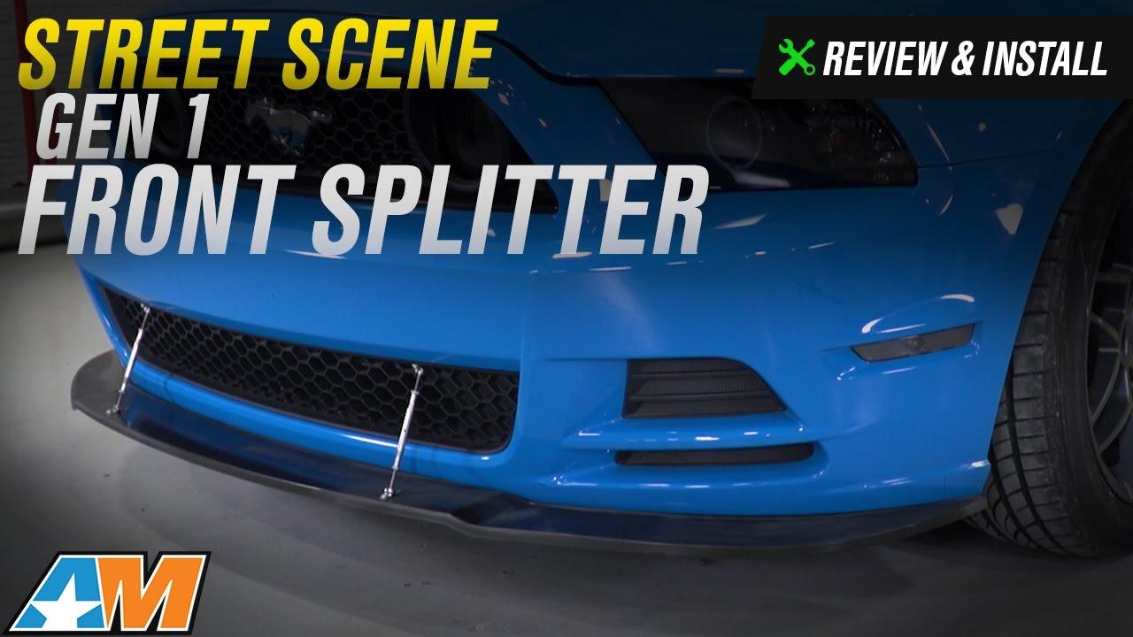 Enforced Aero 2013-2014 Ford Mustang GT Front Lip Splitter w//APR Support Rods