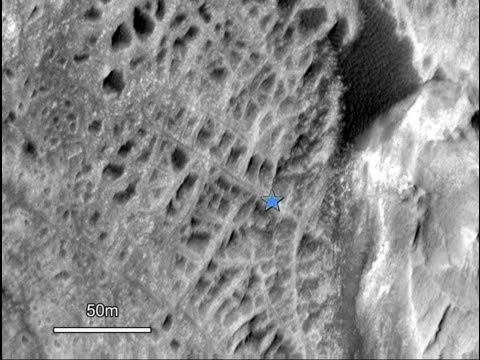 Large City On Mars inside Gale Crater?