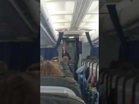 Last Flight of Lufthansa Boeing 737 FRA - LEJ - Purser Announcement