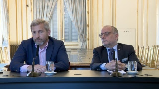 Declaraciones a la prensa de los ministros Jorge Faurie y Rogelio Frigerio