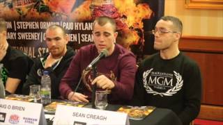 GARY CORCORAN v DANNY BUTLER - DUBLIN PRESS CONFERENCE WITH FRANCIS WARREN & UNDERCARD / MGM