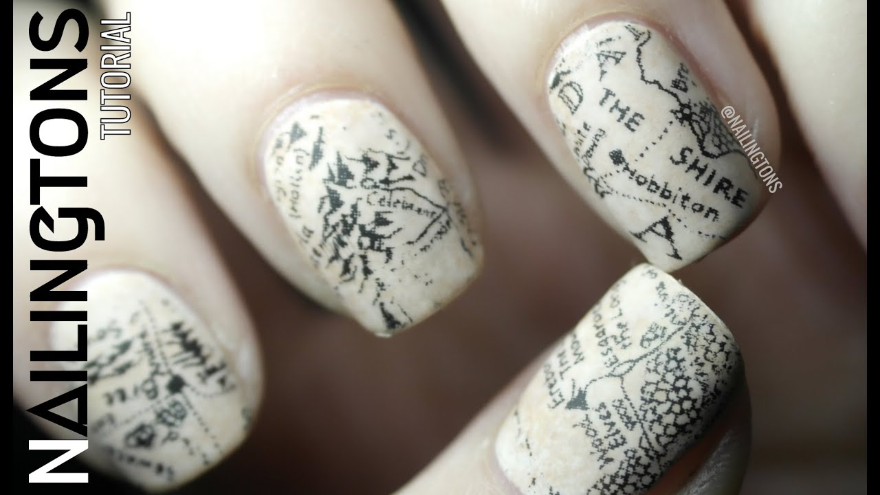Easy Nail Art: Middle Earth - Hobbit - Lord of the Rings Map ...