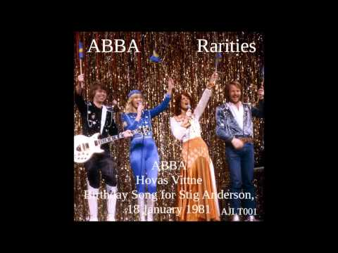 ABBA Hovas Vittne  Birthday Song for Stig Anderson, 18 January 1981 AJLT001