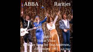 ABBA Hovas Vittne - Birthday Song for Stig Anderson, 18 January 1981 [AJLT001]