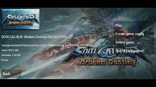 [400] MB! Soulcalibur: Broken Destiny! PSP ISO For Android! High Compress Game