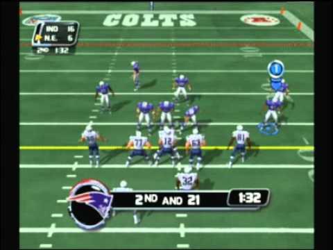 NFL BLitz 2003 - Colts vs Patriots (1st Half)