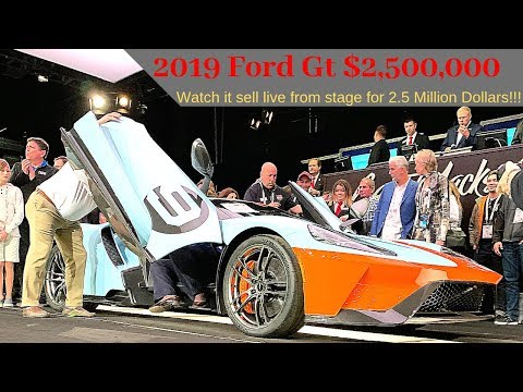 Ford Gt sells for . Million! Watch it live!