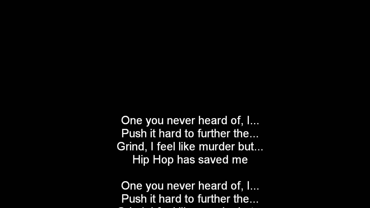 Lupe Fiasco - Hip Hop Saved My Life [Lyrics on Screen ...