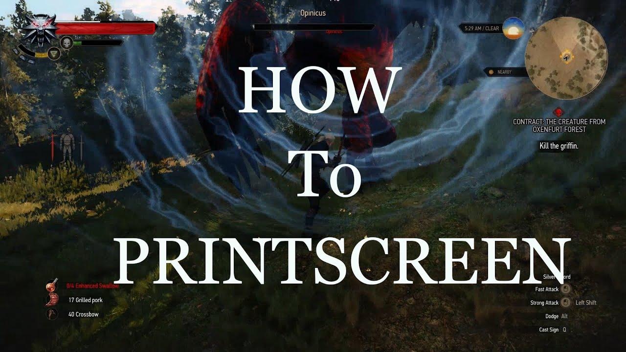 how to make a printscreen