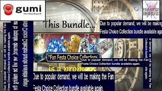 This bundle is a serious problem | Fan Festa Choice Collection bundle FFBE Global