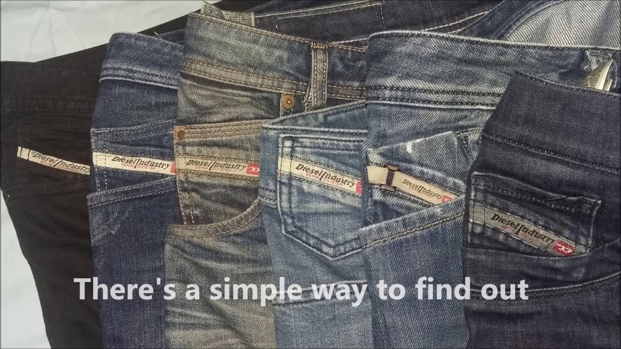 e15bbef4d4 How to spot original Diesel Jeans production date. - YouTube