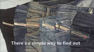 How to spot original Diesel Jeans manufacture date.