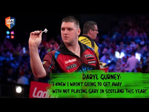 "Daryl Gurney: ""I knew I wasn't going to get away with not playing Gary in Scotland this year!"""