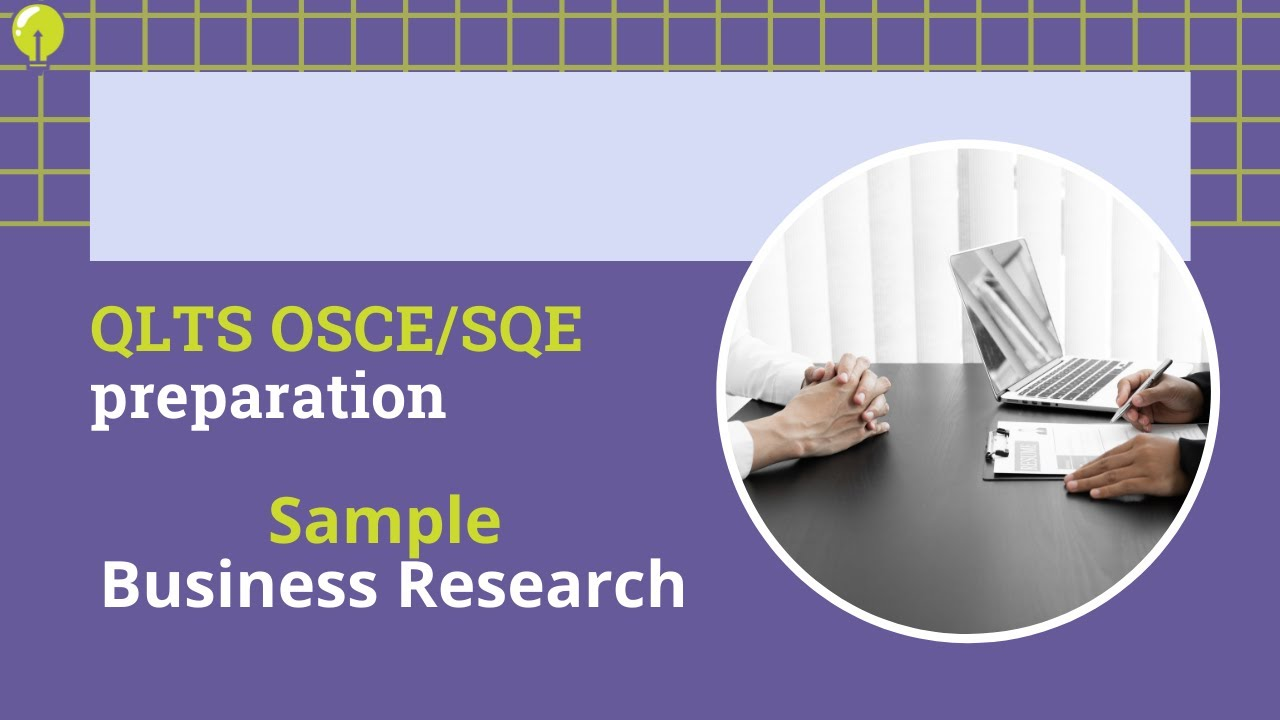 QLTS OSCE Practical areas - Research and Writing