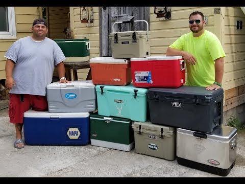 Cooler Challenge (YETI, Kenai, Coleman) 150lbs of Ice