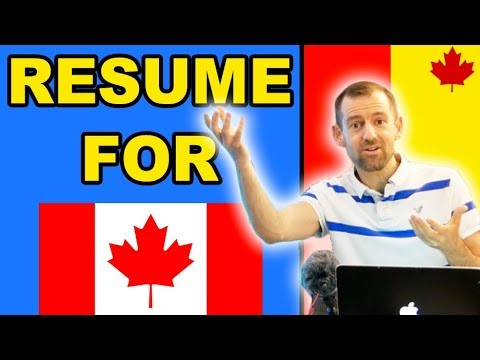 HOW TO MAKE A RESUME FOR CANADA