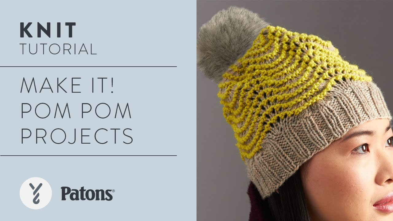 Attach a Pompom to your Knit or Crochet Project - YouTube 31e8f2e5d89