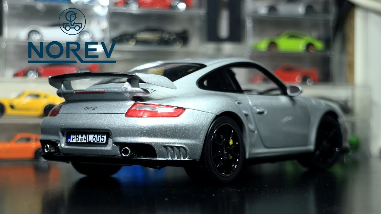 my first 1:18 scale diecast, and I love it! (Norev 1:18 Porsche 997 GT2)