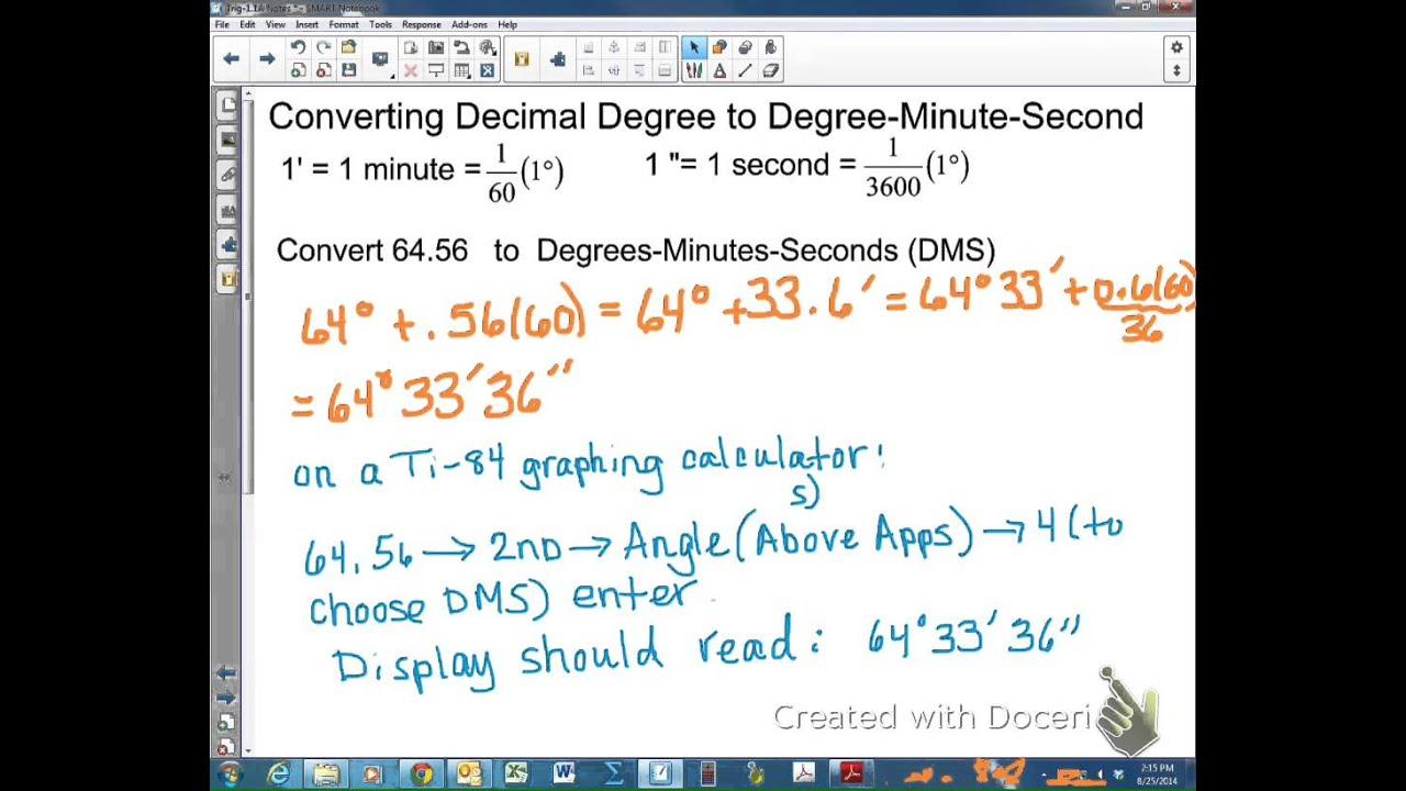Converting between Decimal Degrees and DMS