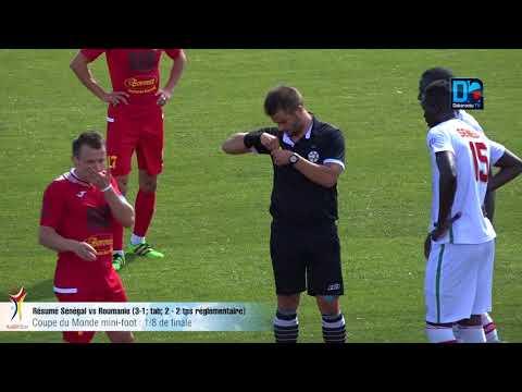 CM MINI-FOOT : Résumé match Sénégal/Roumanie