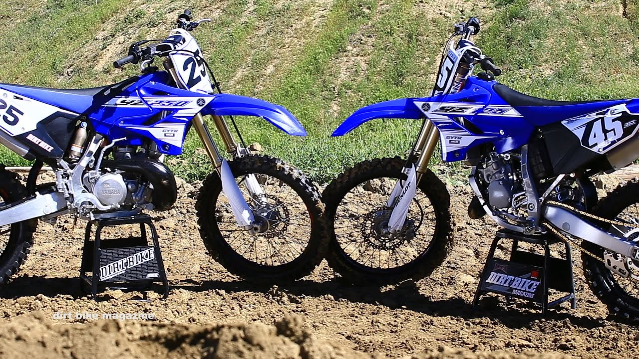 2016 Yamaha Yz  Strokes Head To Head Dirt Bike Magazine Youtube