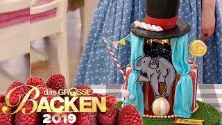 Zirkus-Kuchen: Motiv-Torte mit kreativem Ausschnitt | Aufgabe | Das große Backen 2019 | SAT.1