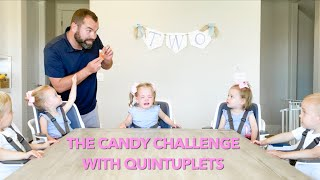 The Candy Challenge With Quint Toddlers