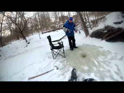 2015 michgian  local creek ice fishing